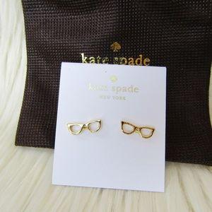 Kate Spade Lookout Cat Eye Gold Stud Earrings